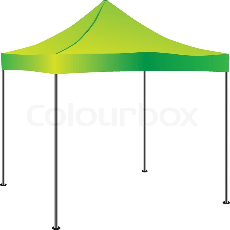 Commercial Pop Up Tent Vector
