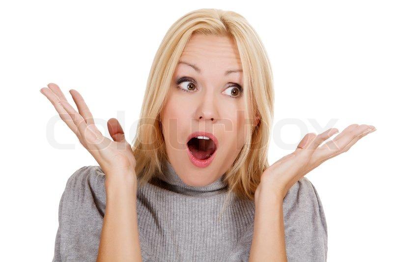 Surprised Person Surprised beautiful girl