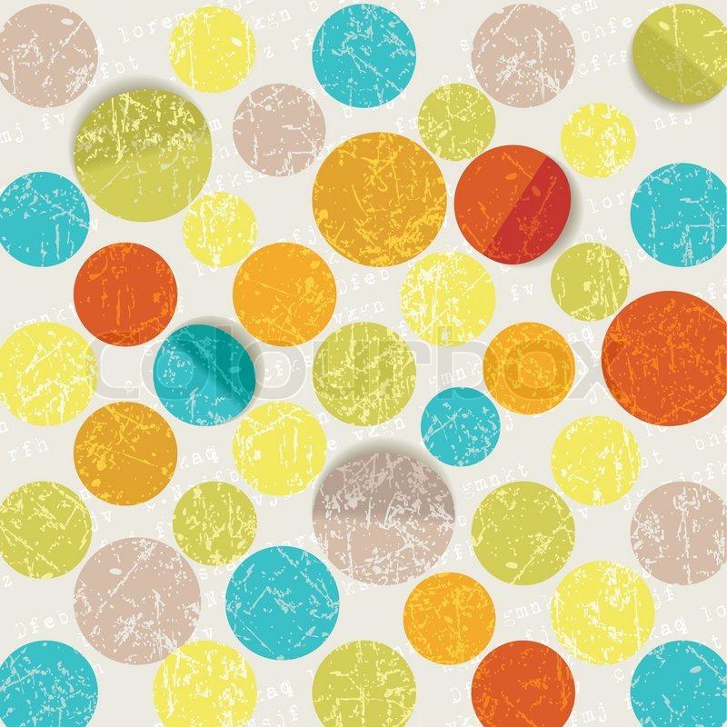 Aninimal Book: Retro circle pattern background | Stock Vector | Colourbox