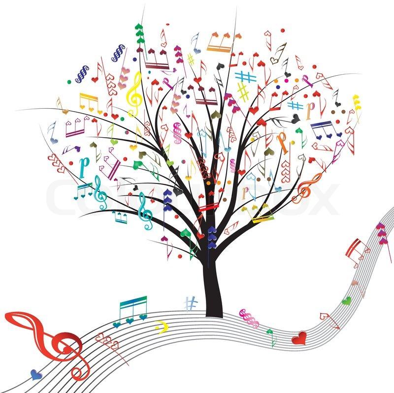 Music Tree Stock Vector Colourbox
