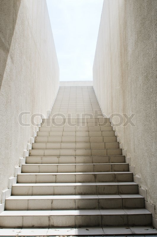 Long stairs with many steps stock photo colourbox for Escaleras largas