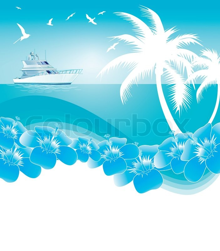 background of blue tropical - photo #5