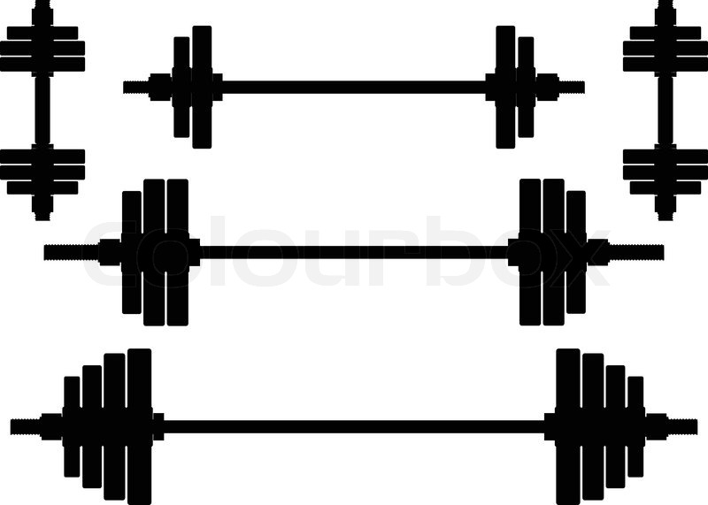 Silhouettes Of Weights Second Wariant Stock Vector