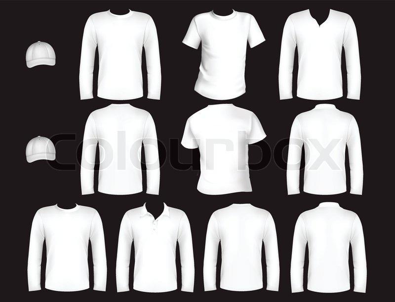 Printt-shirt design template and cap   Stock Vector   Colourbox