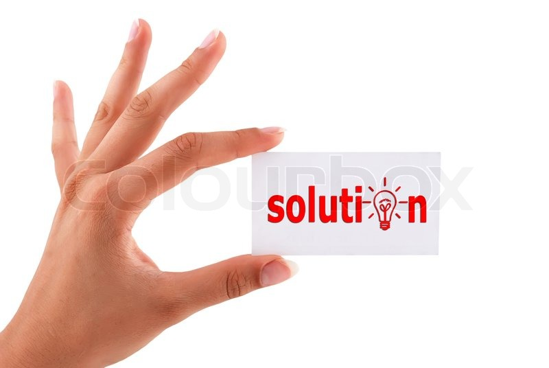 Solution Ahead Answers Road Street Sign Symbol Stock Photo ...