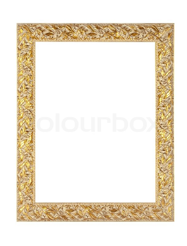 Antique Gold Empty Picture And Mirror Frame | Stock Photo | Colourbox