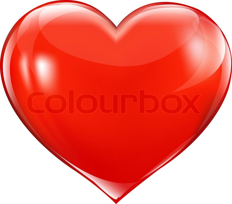 big red heart stock vector colourbox rh colourbox com picture of a big blue heart printable picture of a big heart