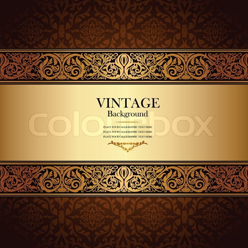 Vintage background antique victorian gold ornament baroque frame stock vector of vintage background antique victorian gold ornament baroque frame stopboris Choice Image