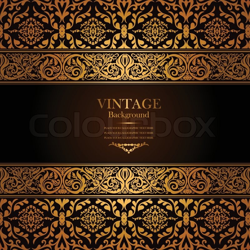 Vintage background antique victorian gold ornament for Antique style decoration
