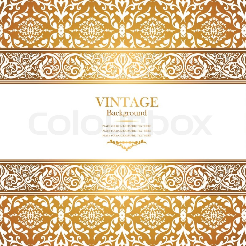 Vintage Royal Background Antique Victorian Gold Ornament