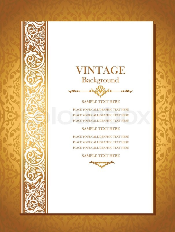 Vintage Royal Background Antique Stock Vector Colourbox