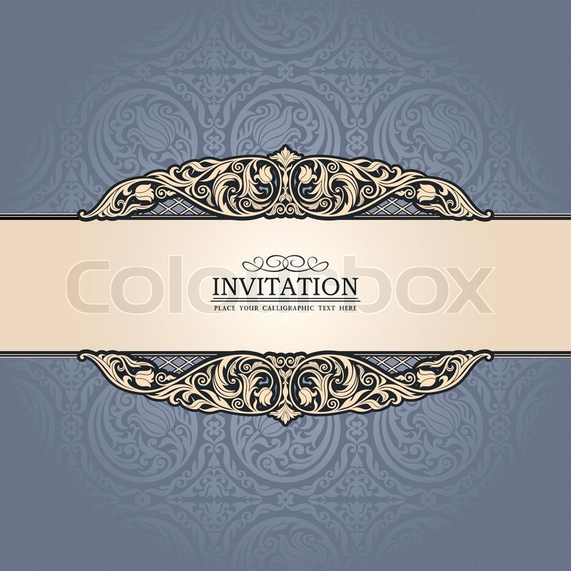 Vintage background antique victorian ornament baroque blue frame stock vector of vintage background antique victorian ornament baroque blue frame stopboris Image collections