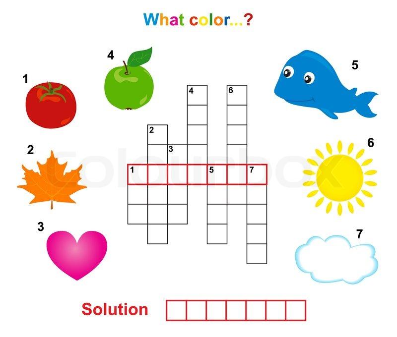 Color crossword | Stock Vector | Colourbox