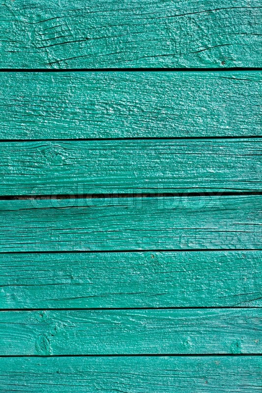 Painted Wooden Fence With Green Paint Stock Photo Colourbox