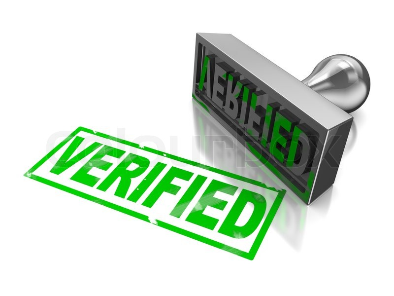 Stamp verified | Stock Photo