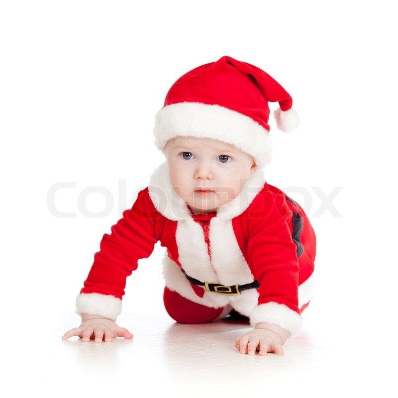 baby kleinkind als weihnachtsmann verkleidet wei. Black Bedroom Furniture Sets. Home Design Ideas