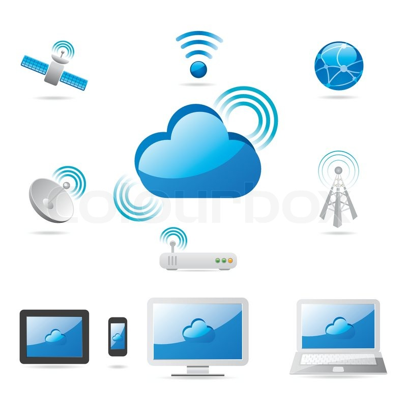 Stock vector of 'Cloud Technology Internet'