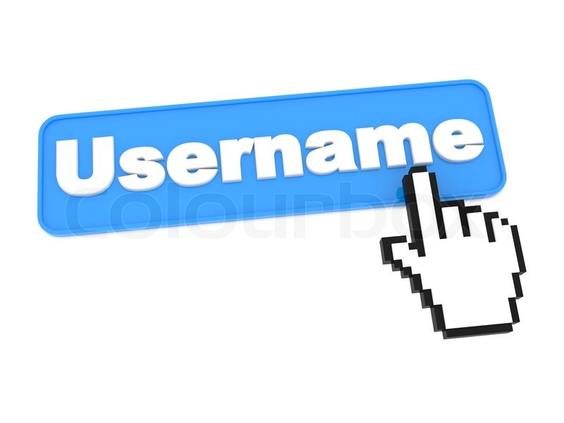 Username Web Button Stock Photo Colourbox