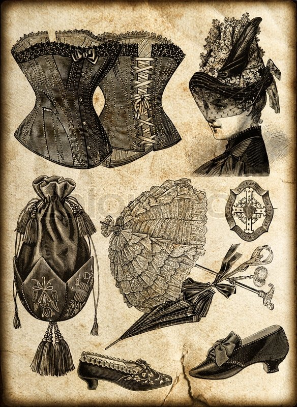 Vintage Fashion Accessories For Victorian Lady Corsage