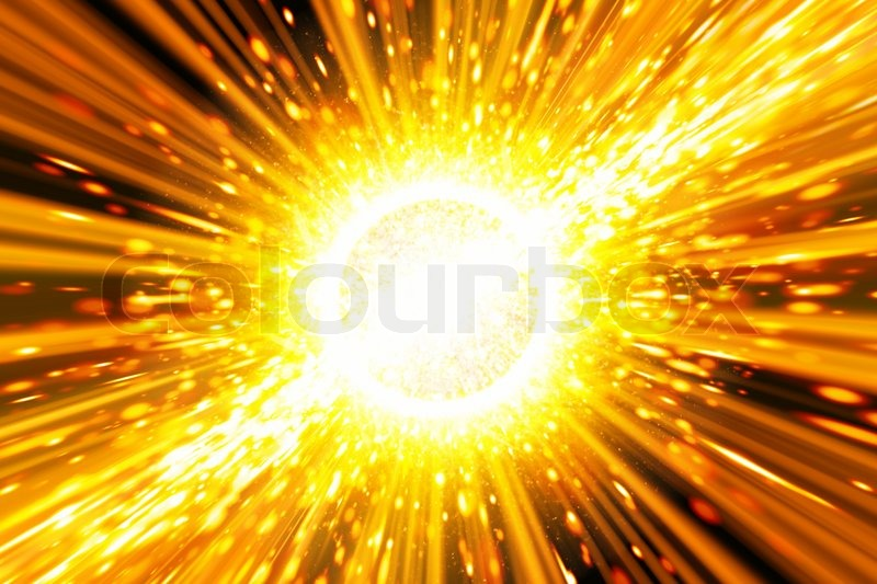 Abstract scientific background - big exploding in space, big bang theory, stock photo