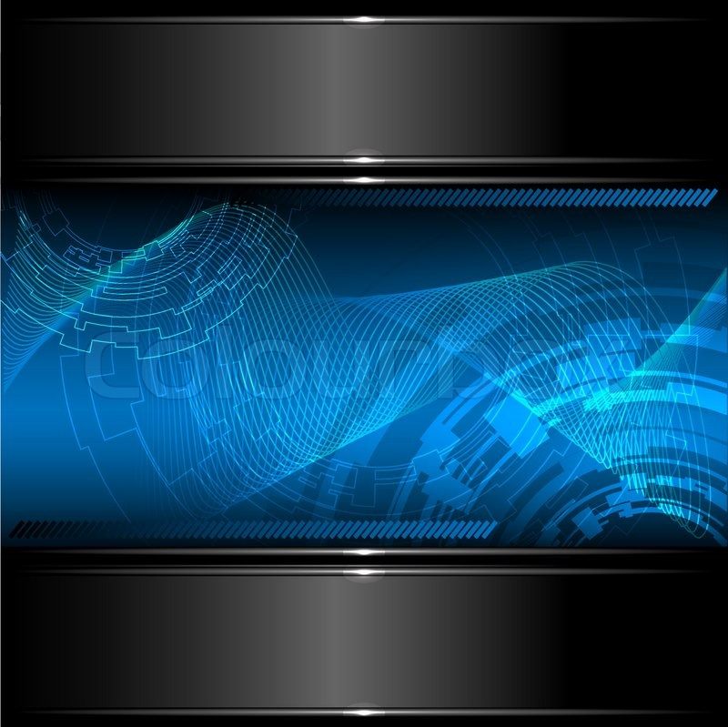 Abstract Technology Background With Metallic Banner Vector Vector 4737802 on Circle Line Design