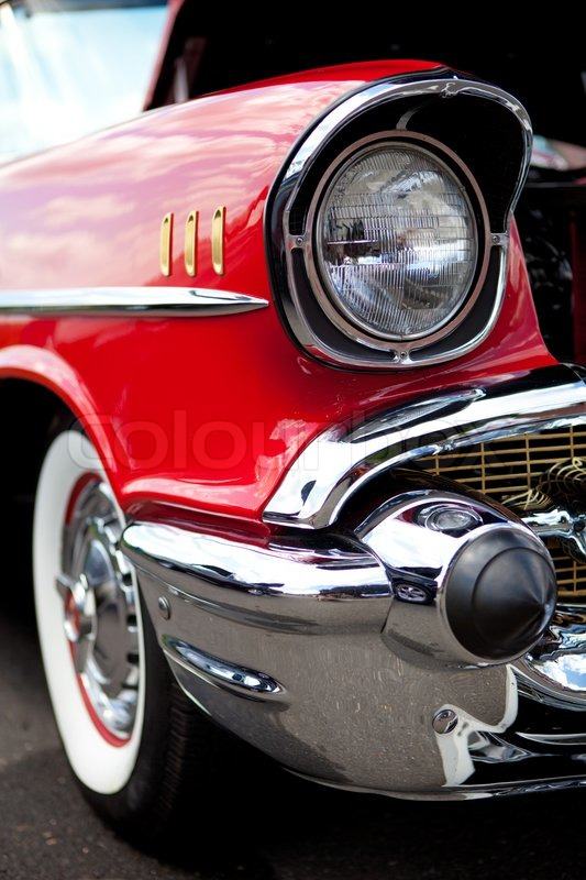 Antique Automobile Headlamps : Classic car headlight stock photo colourbox