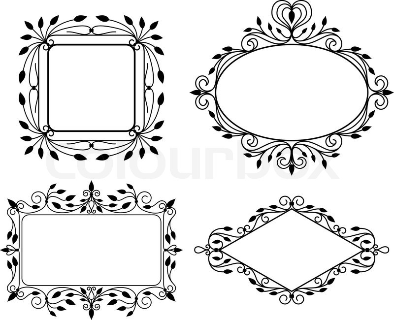 Vintage graphic frames | Stock Vector | Colourbox