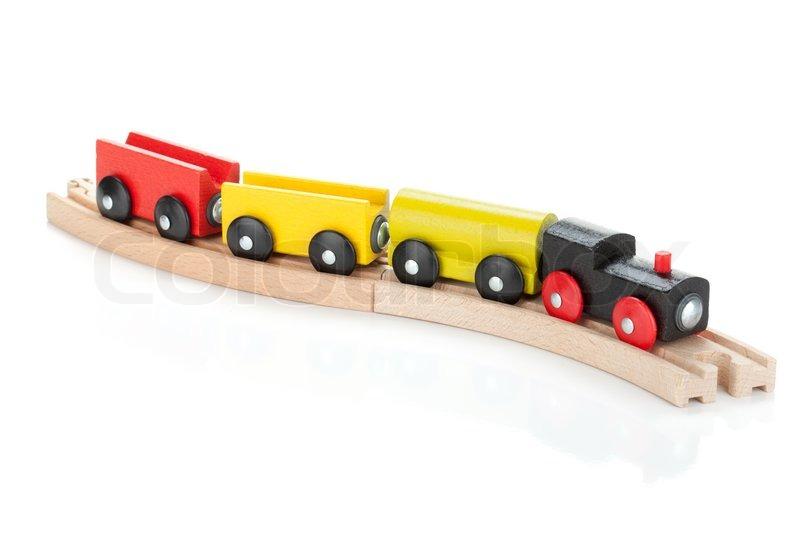 Wooden toy train | Stock Photo | Colourbox
