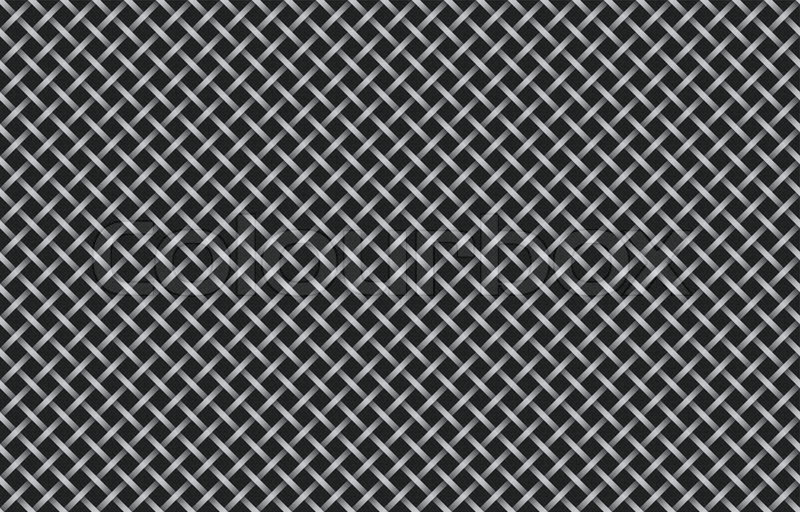 Seamless Metallic Grating Texture Vector Illustration
