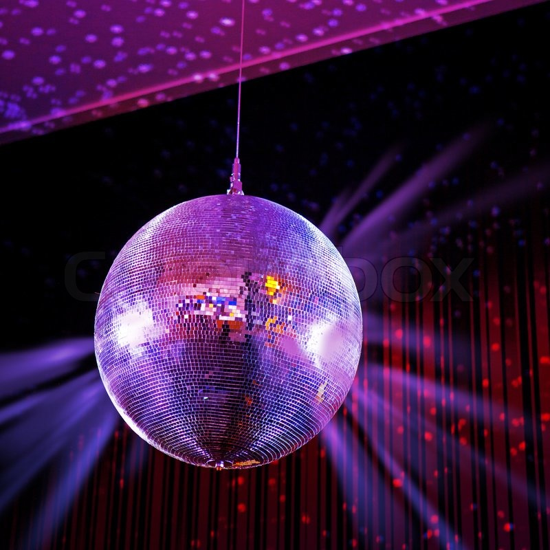 party lights disco ball stock photo colourbox