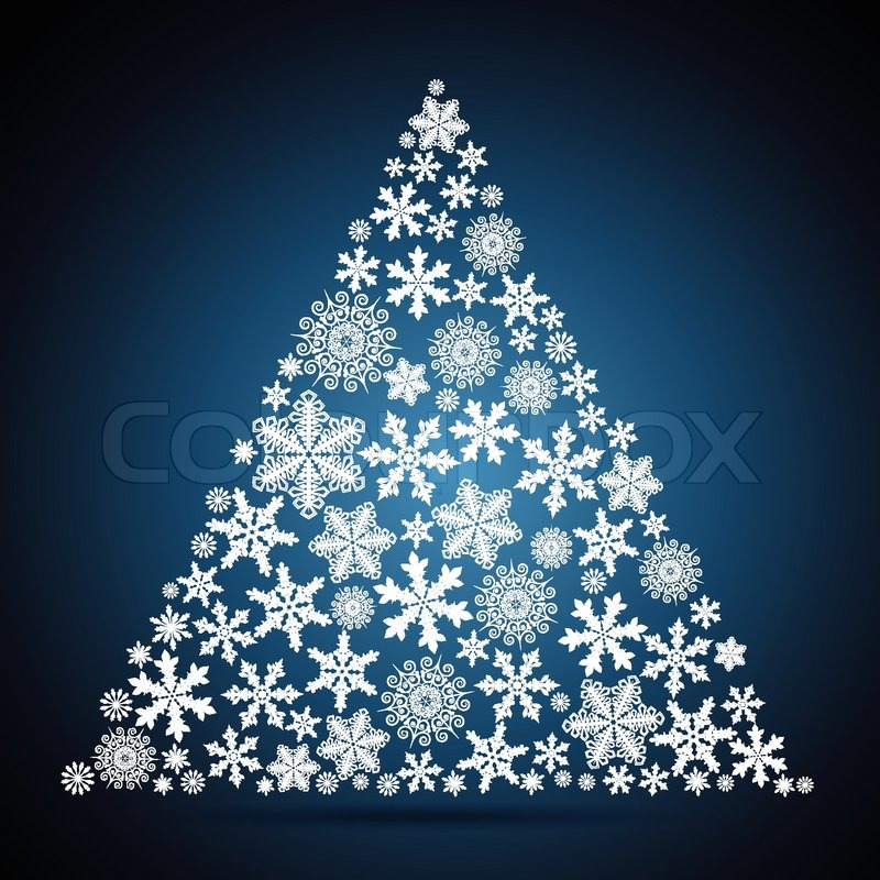 Christmas tree, snowflake design background | Stock Vector | Colourbox