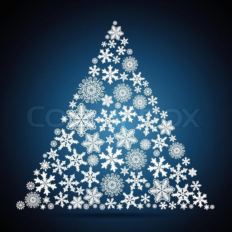 Weihnachtsbaum schneeflocke design hintergrund - Design weihnachtsbaum ...