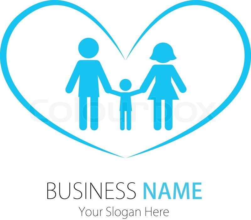 Company (Business) Logo Design,Vector,Heart,Family   Stock ...