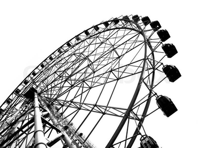 Outline of a Large Ferris Wheel   Stock Photo   Colourbox