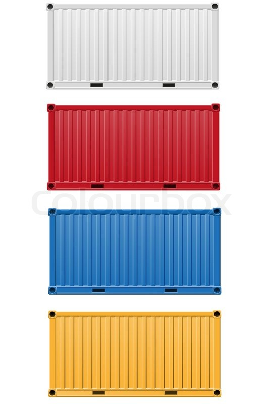 Cargo container vector illustration | Stock Vector | Colourbox