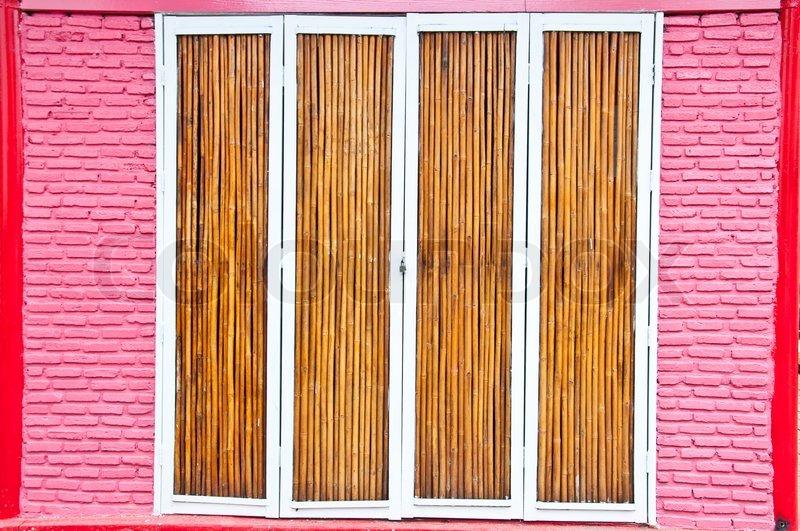 Bamboo Door, Stock Photo