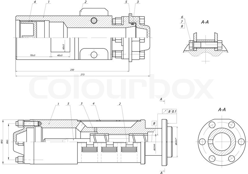 Input section of the submersible centrifugal pump stock vector input section of the submersible centrifugal pump vector ccuart Image collections