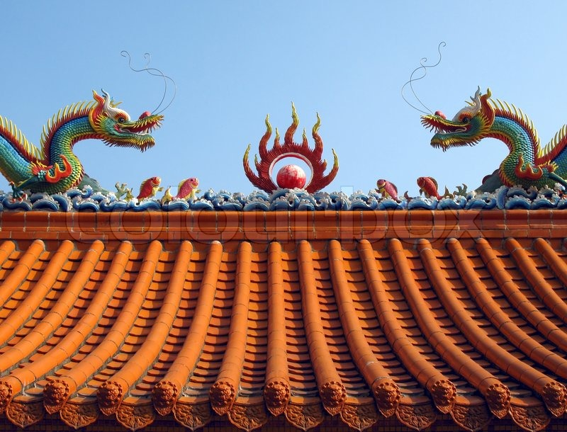 Chinese Temple Roof Stock Photo Colourbox