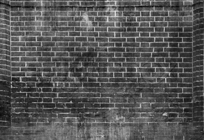 White And Black Grunge Brick Texture