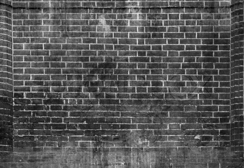 White And Black Grunge Brick Texture