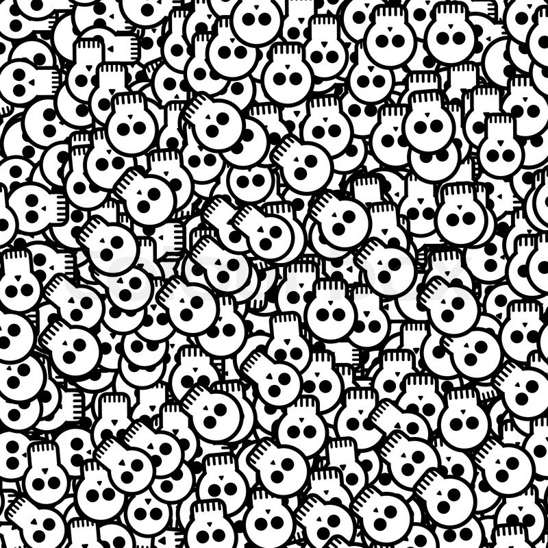 halloween background will skulls stock vector colourbox - Halloween Skulls