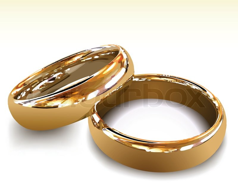 Gold wedding rings Vector illustration Stock Vector Colourbox