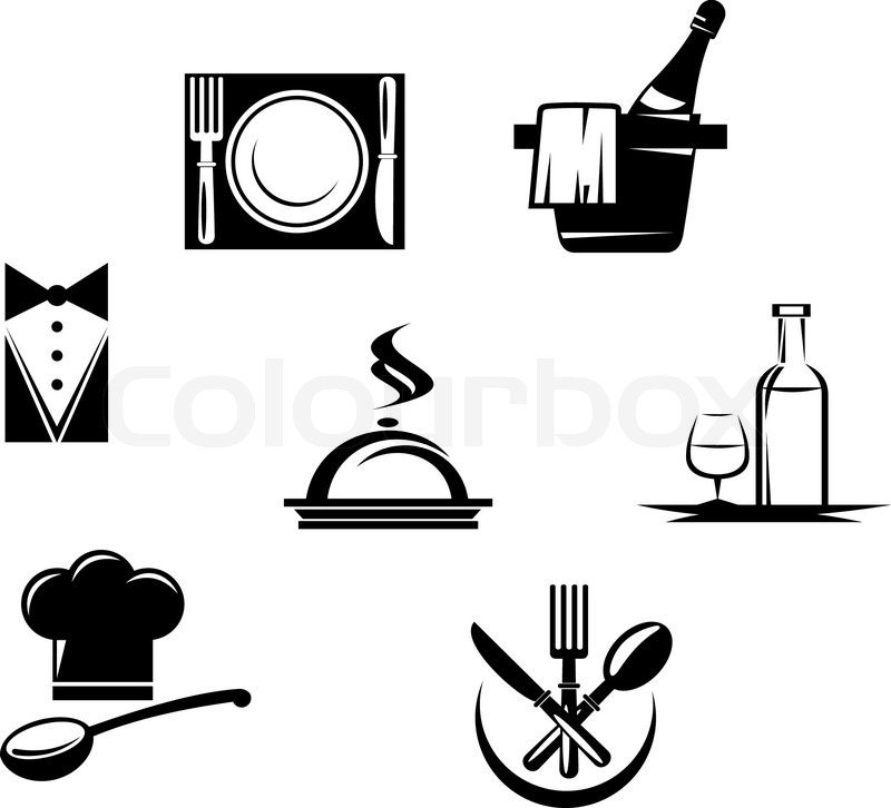 Restaurant Icons And Menu Elements Stock Vector Colourbox