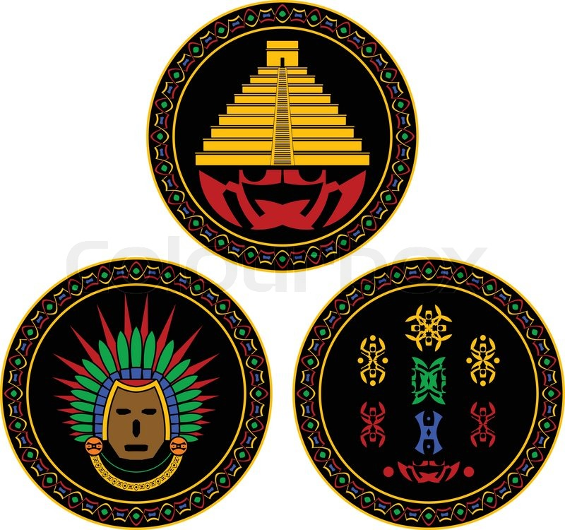 Mayan and aztec symbols  vectorMayan Symbols Vector