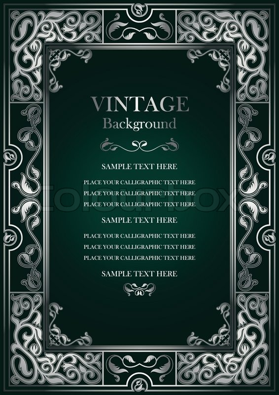 Vintage green background, antique ... | Stock Vector ...