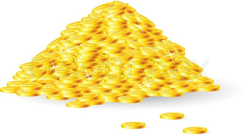 Pile Of Gold Coins Stock Vector Colourbox