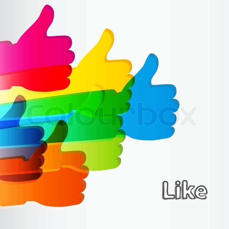 Like And Thumbs Up Symbol Stock Vector Colourbox