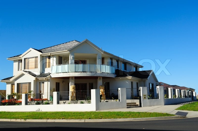 Beautiful modern house stock photo colourbox for Modern beautiful house