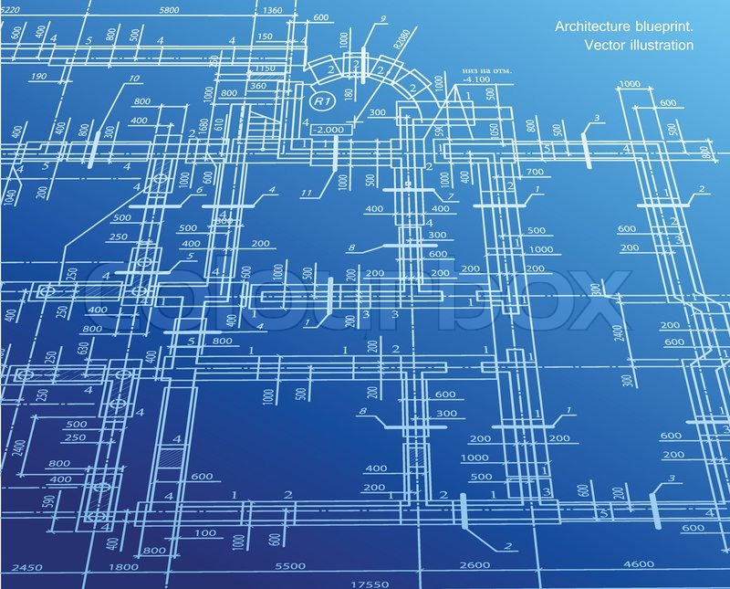 Architecture blueprint background vector stock vector colourbox architecture blueprint background vector vector malvernweather Image collections