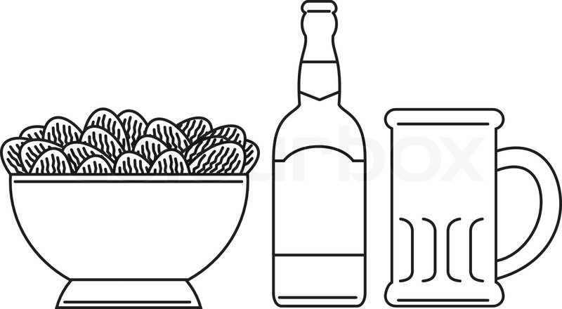 Beer Bottles Drawing Beer Bottle Drawing Clipart